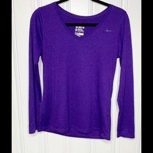 Nike Athletic Cut Purple Dri Fit  Tee Size M
